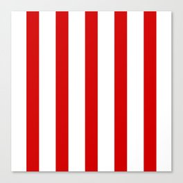 Red vertical lines Canvas Print