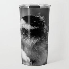 Snowflake Chickadee Travel Mug