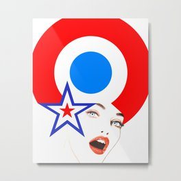 Pop-Art Pinup Metal Print