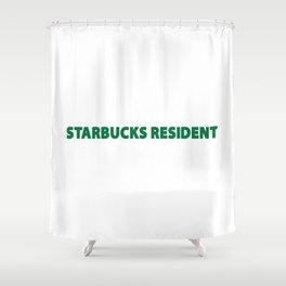 starbucks resident Shower Curtain