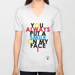 Smiley Face Unisex V-Neck