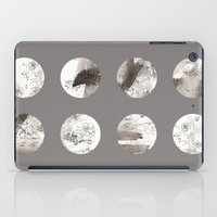 moon phases iPad Cases featuring Moon phases by Dreamy Me