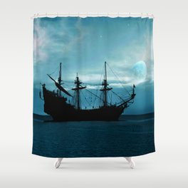 In The Still Of The Night ... By LadyShalene Shower Curtain