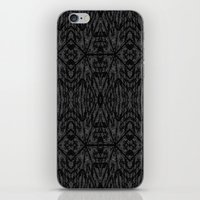 gray pattern iPhone & iPod Skins featuring Slate Gray Black Pattern by 2sweet4words Designs