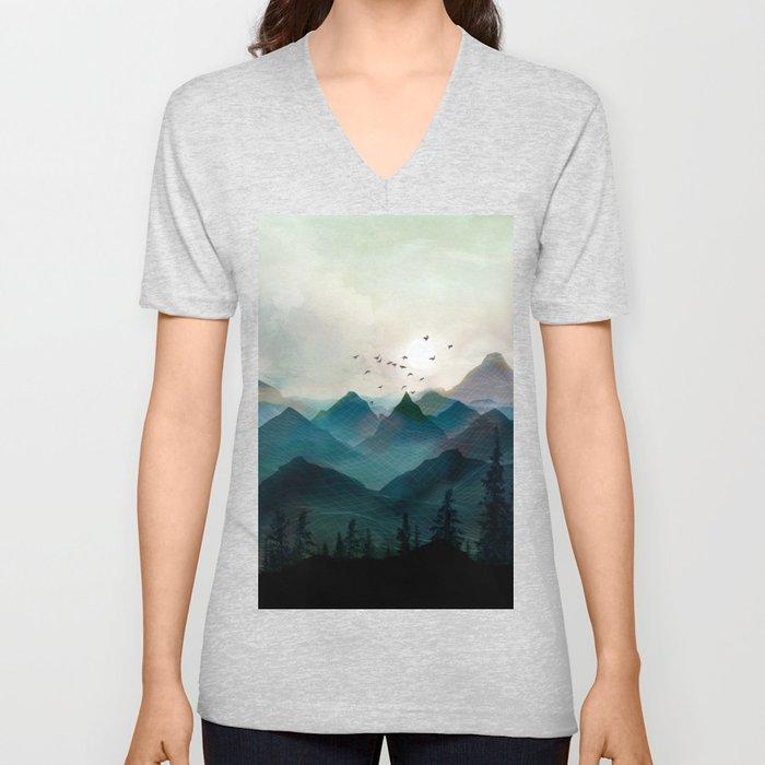 Mountain Sunrise II Unisex V-Neck