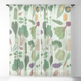 Vegetables Sheer Curtain