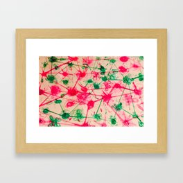 Messy Watercolour floral pattern Framed Art Print
