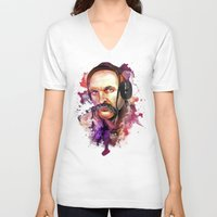 paramore V-neck T-shirts featuring Cossack Ivan Sirko listen music by Sitchko Igor