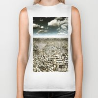 concrete Biker Tanks featuring Concrete Mind by Florin