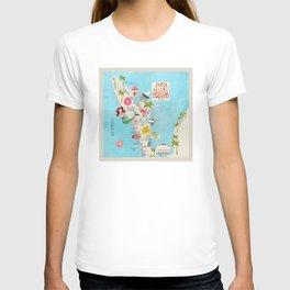 Anna Maria Island Map T-shirt