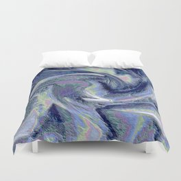 Blue Marble Abstract  Background Duvet Cover
