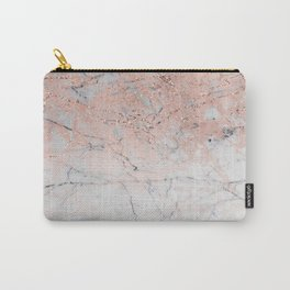 Rose Glitter Marble Carry-All Pouch