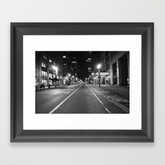 Fire Lane/ Bus Only Framed Art Print