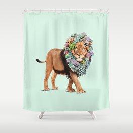 SUCCULENT LION Shower Curtain