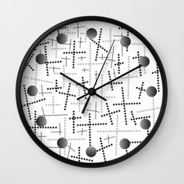 Croisement gris Wall Clock