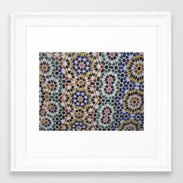 Morrocan Tile Framed Art Print