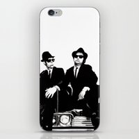 blues brothers iPhone & iPod Skins featuring Blues Brothers by DmDan