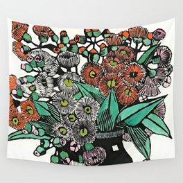 """Australian Gum Blossoms"" by Margaret Preston Wall Tapestry"