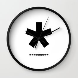 Helvetica Typoster #3 Wall Clock