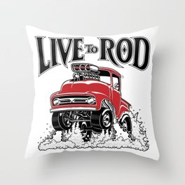 1956 FORD PICK-UP Workin' Hot Rod series Throw Pillow