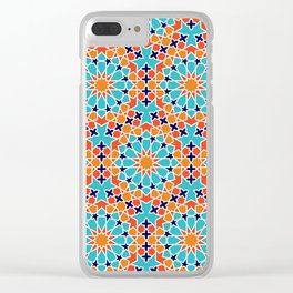 Seamless Moroccan Pattern Clear iPhone Case