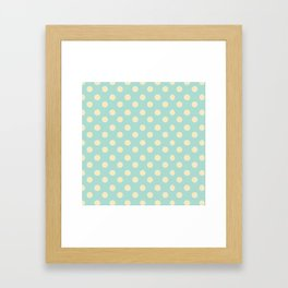 Dotted - Soft Blue Framed Art Print