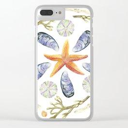 Tide Pool Beach Mandala 3 - Watercolor Clear iPhone Case