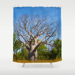 Beautiful Blue Boab Shower Curtain
