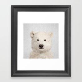 Polar Bear - Colorful Framed Art Print