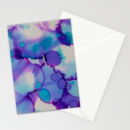 Purple and blue Stationery Cards