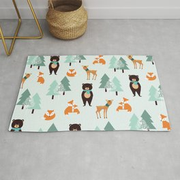 Animals in the winter - pattern #society6 Rug