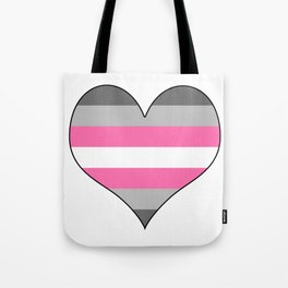 Demigirl Heart Tote Bag