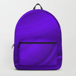 Hot voluminous amethyst curved lines with delicate outlines of ceramic semicircles. Backpack