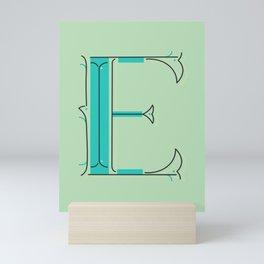 Drop Cap E - decorative letter - typography - monogram - capital Mini Art Print
