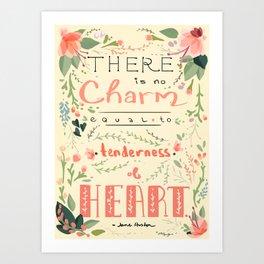 Austen Tenderness  Art Print