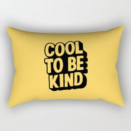 COOL TO BE KIND yelow and black Rectangular Pillow