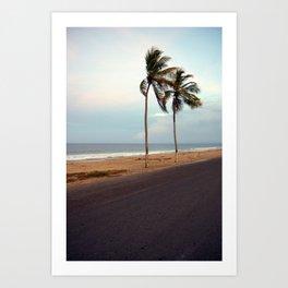 Playa La Caracola Art Print