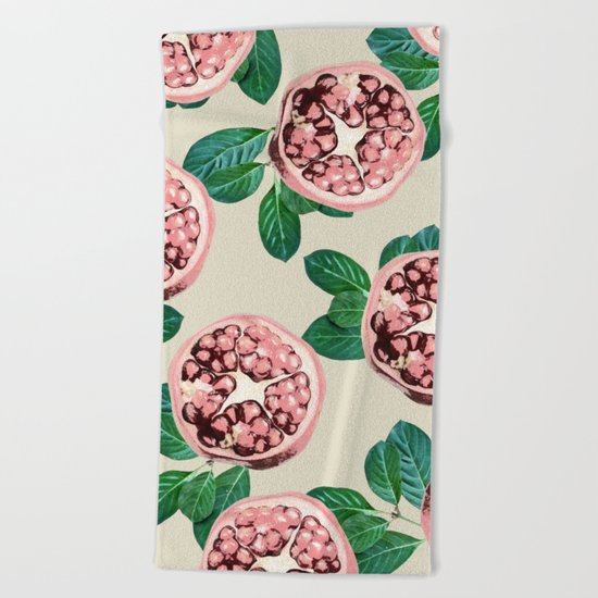 Pomegranate V2 #society6 #decor #buyart Beach Towel
