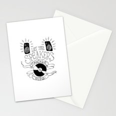 Let the Speakers... Stationery Cards
