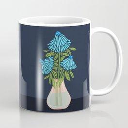 Blue Echinacea Coffee Mug