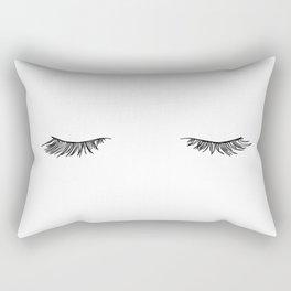 Closed eyes illustration - Lashes Rectangular Pillow