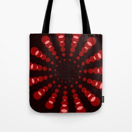simple red spiral Tote Bag