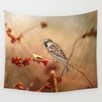 sparrow Wall Tapestries featuring The Sparrow by ThePhotoGuyDarren