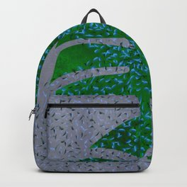 Monstera Leaf In The Flow Backpack