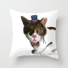 Oliver Twist: Society Cat. Throw Pillow