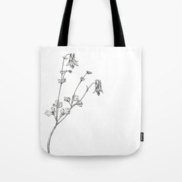 Eastern Red Columbine Tote Bag