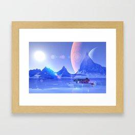 Exploring an Ice Planet Framed Art Print