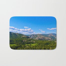 Clouds Floating Over Donner Pass Bath Mat