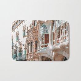 Casa Batllo, Antoni Gaudi Architecture, Barcelona City Print, Famous Landmark, Travel Print, House Facade, Modernist Building, Spanish Organic Motifs Bath Mat