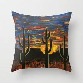Brilliant Southwest Sunset Throw Pillow